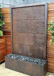 Copper Walls Copper Is An Unusual Material For A Water Wall Used Simply Here