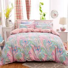 soft bed sheets 4pcs bohemian bedding set soft polyester bed linen duvet cover