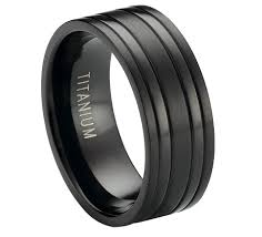 black titanium rings black titanium ring two raised polished bands