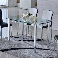 table en verre cuisine table verre blanc extensible stuffwecollect com maison fr