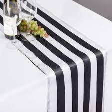 black white striped table runner x 108 in black white striped satin table runner