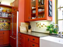orange kitchen cabinets burnt orange kitchen cabinets rapflava