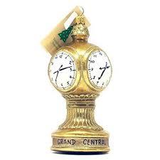 glass grand central terminal clock ornament nyc subway