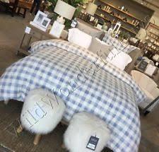 pottery barn checked duvet covers u0026 bedding sets ebay