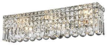 Chandelier Bathroom Vanity Lighting 6 Light Vanity Clear Crystal Wall Sconce Chandelier Light 24