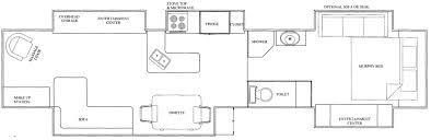 5th Wheel Camper Floor Plans by Star Waggons U2013 Five Slide Cinco Supreme 43ft 5th Wheel Tf