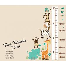 teal stickers jungle with kids height chart wall for kids teal safari wall stickers with child wall growth chart for children