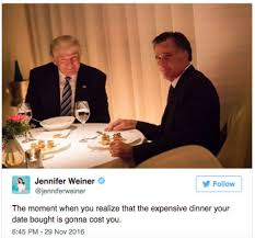 Mitt Romney Memes - trump romney dinner date on tuesday night provides fodder for memes