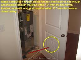 Interior Door Vent Grill Chicago Condo Inspection Combustion Air Requirements