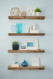 timber wall shelves medium size of floating bathroom shelves thick