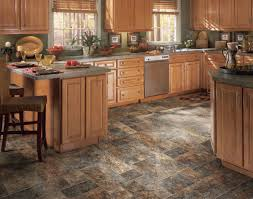 top kitchen flooring options for small and big space trends fantastic design of kitchen flooring option with black marble floor added with brown wooden cabinets