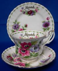Flowers Of The Month Royal Albert U0027flowers Of The Month U0027 Tea Cup Trio March Anemones