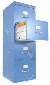 Filing Cabinets With Lock Blue File Cabinet Open Drawer With Files Lock And Key Stock Photo