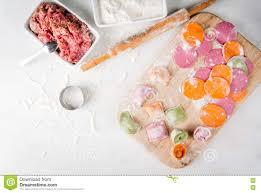 multi colored ravioli stock photo image 79757871