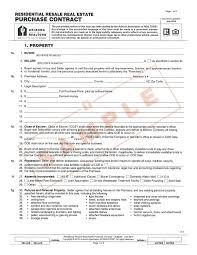 new purchase contract sample arizona copy aar