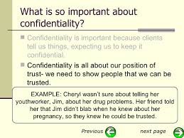 induction slideshow privacy and confidentiality