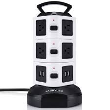 amazon com power strip tower jackyled surge protector electric