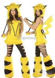 quality pikachu plush animal yellow halloween costume party