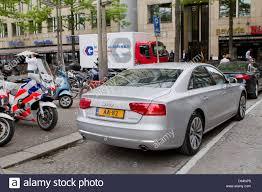 audi insurance princess maxima arrives in a hybrid audi a8 car to the