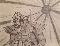 samurai pencil sketch rising sun by dreamkillr on deviantart