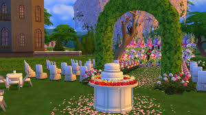 wedding cake in the sims 4 sims 4 gameplay with family wedding of alex and