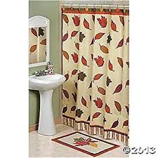 Fall Kitchen Curtains Fall Leaves Autumn Shower Curtain Home Kitchen