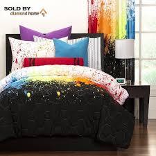 Green And Black Comforter Sets Queen Amazon Com Crayola Crayon Paint Splash 2 Piece Comforter Set Twin