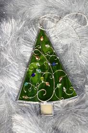 beautiful handmade stained glass tree ornament to your