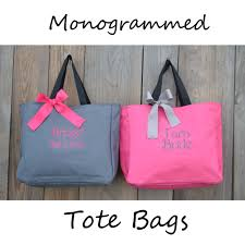 bridesmaids bags 8 personalized cheer bridesmaid gift tote bag