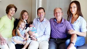 George W Bush Birth Jenna Bush Hager Shares Adorable Family Photos With New Baby Poppy