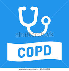 copd ribbon chronic ribbon stethoscope icon flat stock vector 583290580