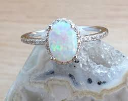 Opal Wedding Rings by Opal Ring Etsy