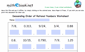rational numbers worksheet fts e info