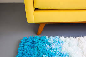 Blue Ombre Rug A Pom Pom Rug Wall Hanging And Table Cover In One Brit Co