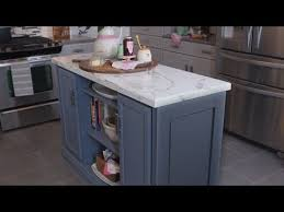 how to make a kitchen island with stock cabinets learn how to make a multifunction kitchen island from stock