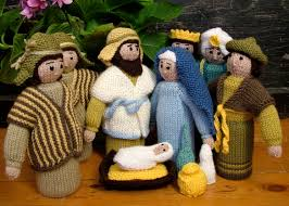 susie johns at the circus knitted nativity