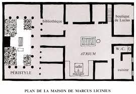 plan maison en u ouvert de maison romaine