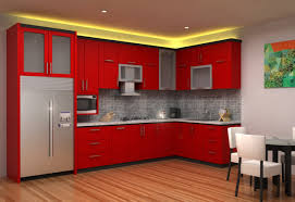 furniture trendy red kitchen cabinets design ideas for home