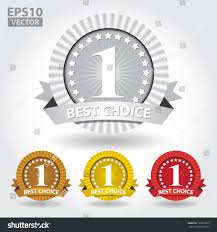 Number One Best Choice Ribbon Sticker Sign Number Stock Vector 123899575