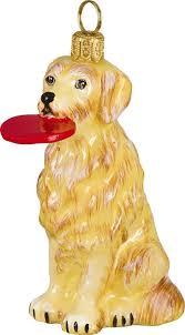 pet set golden retriever frisbee ornament for the