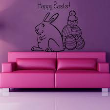 popular rabbit decal buy cheap rabbit decal lots from china rabbit cartoon rabbit wall decals happy easter cute animal wall sticker for kids room bedroom decorate art