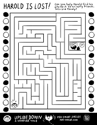 free halloween activity pages maze activities and math
