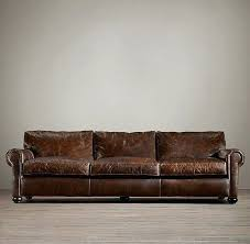 Henredon Leather Sofa Distressed Leather Sofa Living Room Couches Ralph Henredon