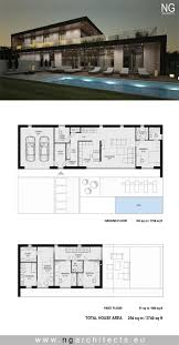 Modern Villa Floor Plans by 193 Best Modern House Plans Images On Pinterest Modern Houses