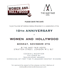 Save The Date Emails Save The Date Women And Hollywood U0027s 10th Anniversary Celebration