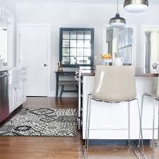 tapis de cuisine grande taille tapis motifs carreaux de ciment gris noir 140x100cm toodoo 140 x 100