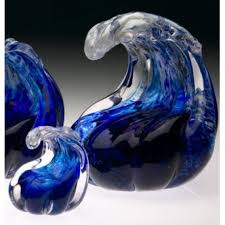 small cremation urns keepsake cremation urns big sur wave blown glass