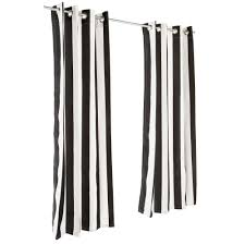 Black Outdoor Curtains Cabana Black Grommet Sunbrella Outdoor Curtains