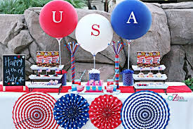 Fourth Of July Table Decoration Ideas A 4th Of July Celebration Via Blossom