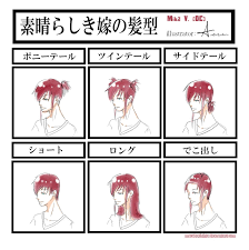 Meme Hairstyles - waifu hairstyles meme by macabrelolita on deviantart